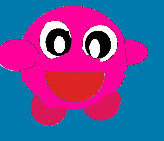 Cartoonish Kirby