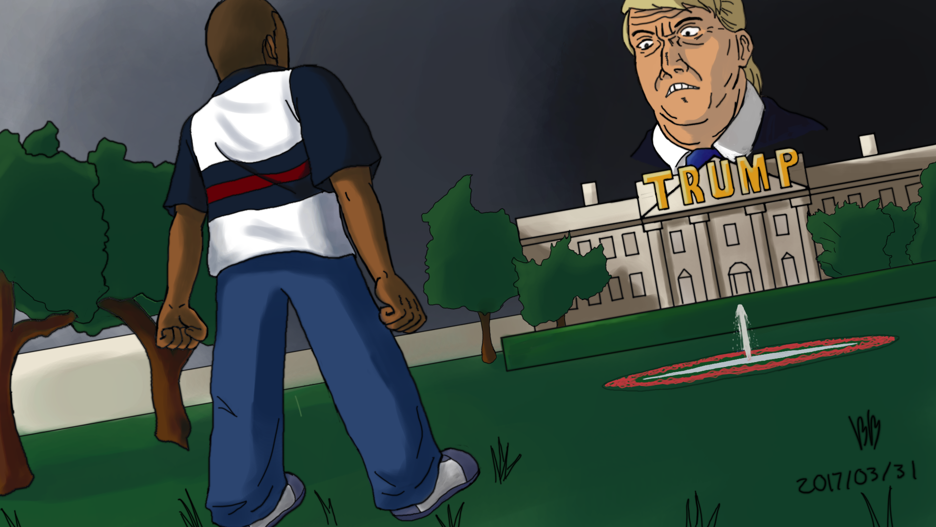 Cory Vs Trump Arc Fanart