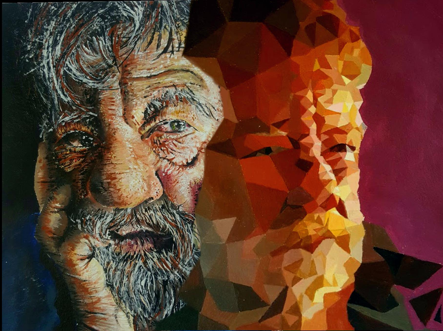 TRADIGITAL SUBMISSION - my grandfather, acrylic