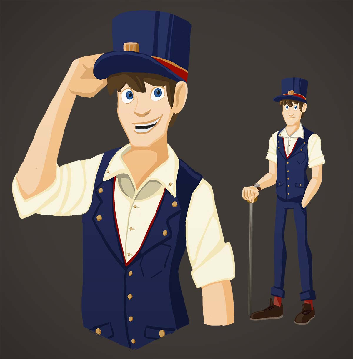 Train Conductor Character
