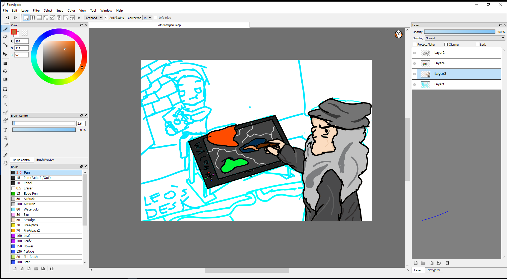 in the making of tradigital by jellywaffles on Newgrounds