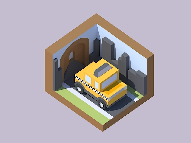 Cute taxi by Kenney on Newgrounds