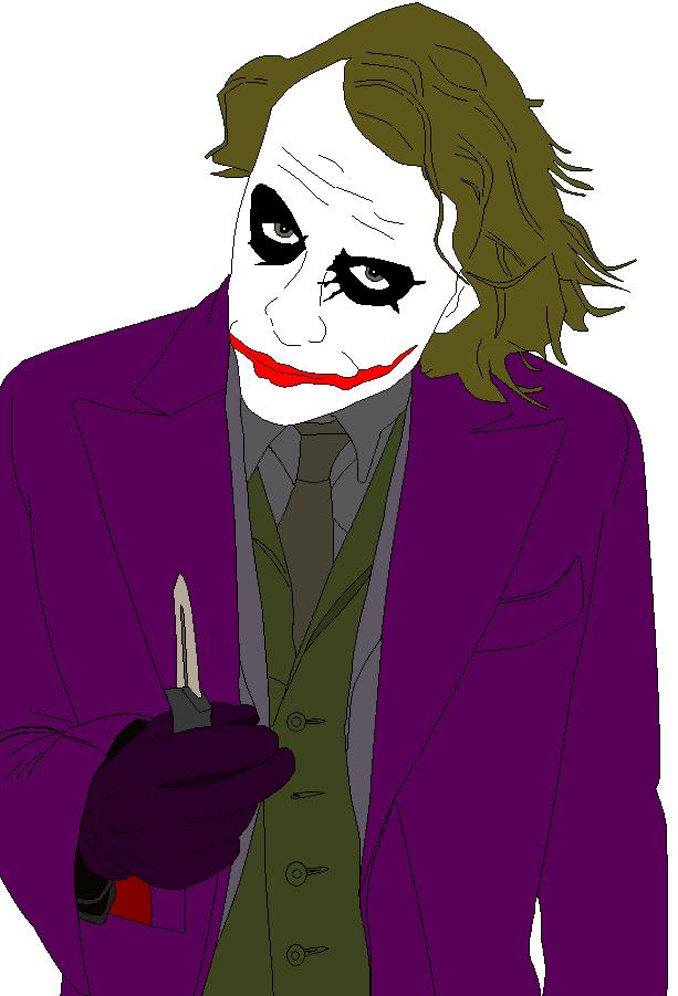 The Joker with Knife