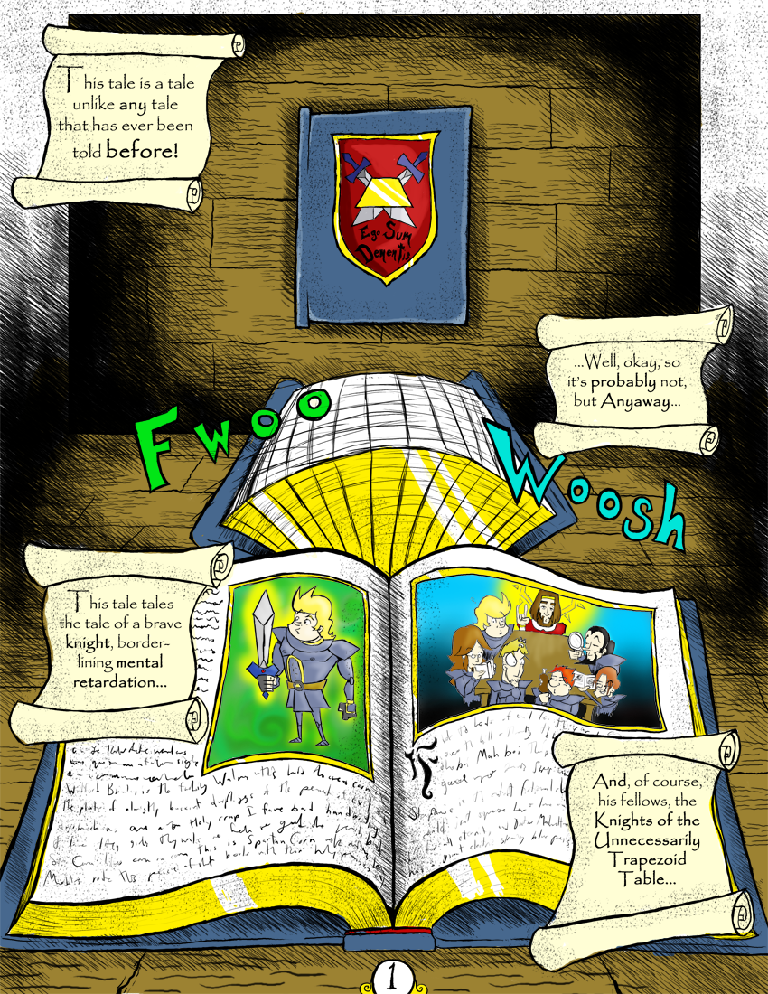 Sir Dufius Comic- Page 1