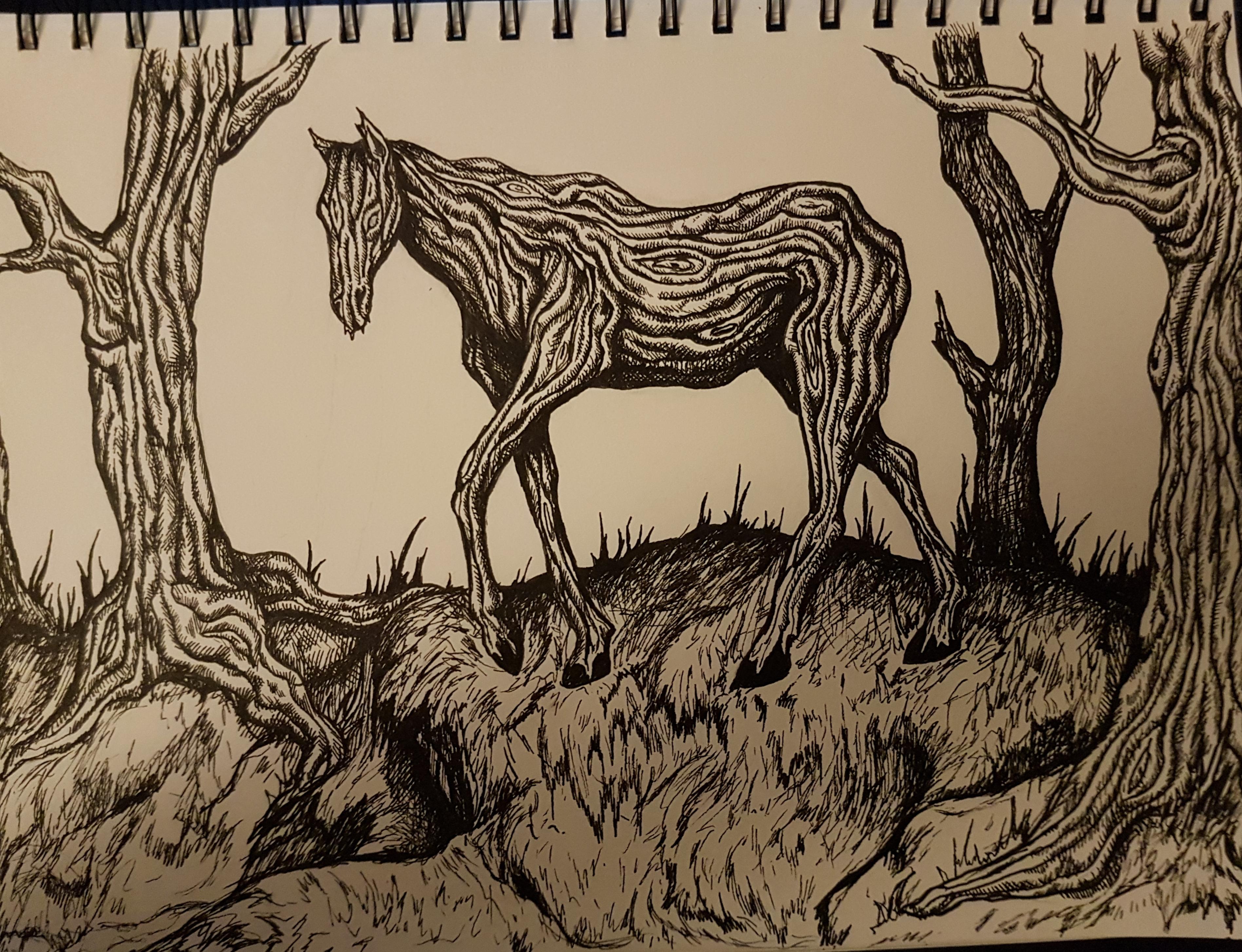 tail's hard, thick, wood pony
