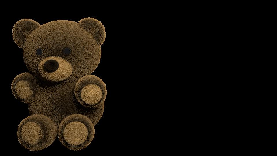 Realistic 3D Teddy Bear