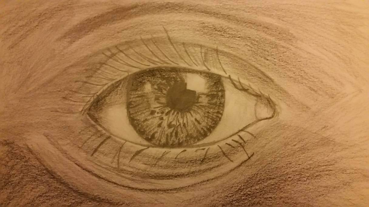 The perfect eye (black and white)