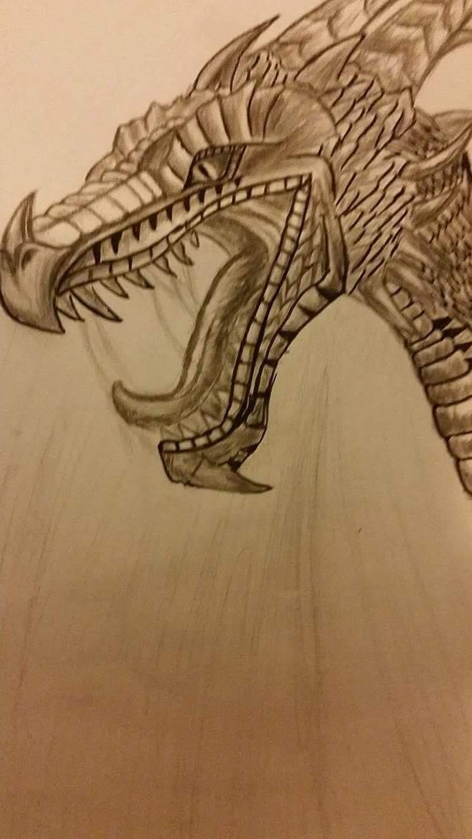 Black and white super dragon