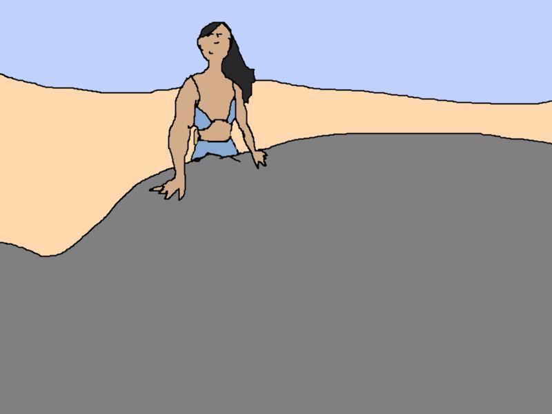 Posing on a Rock-Side
