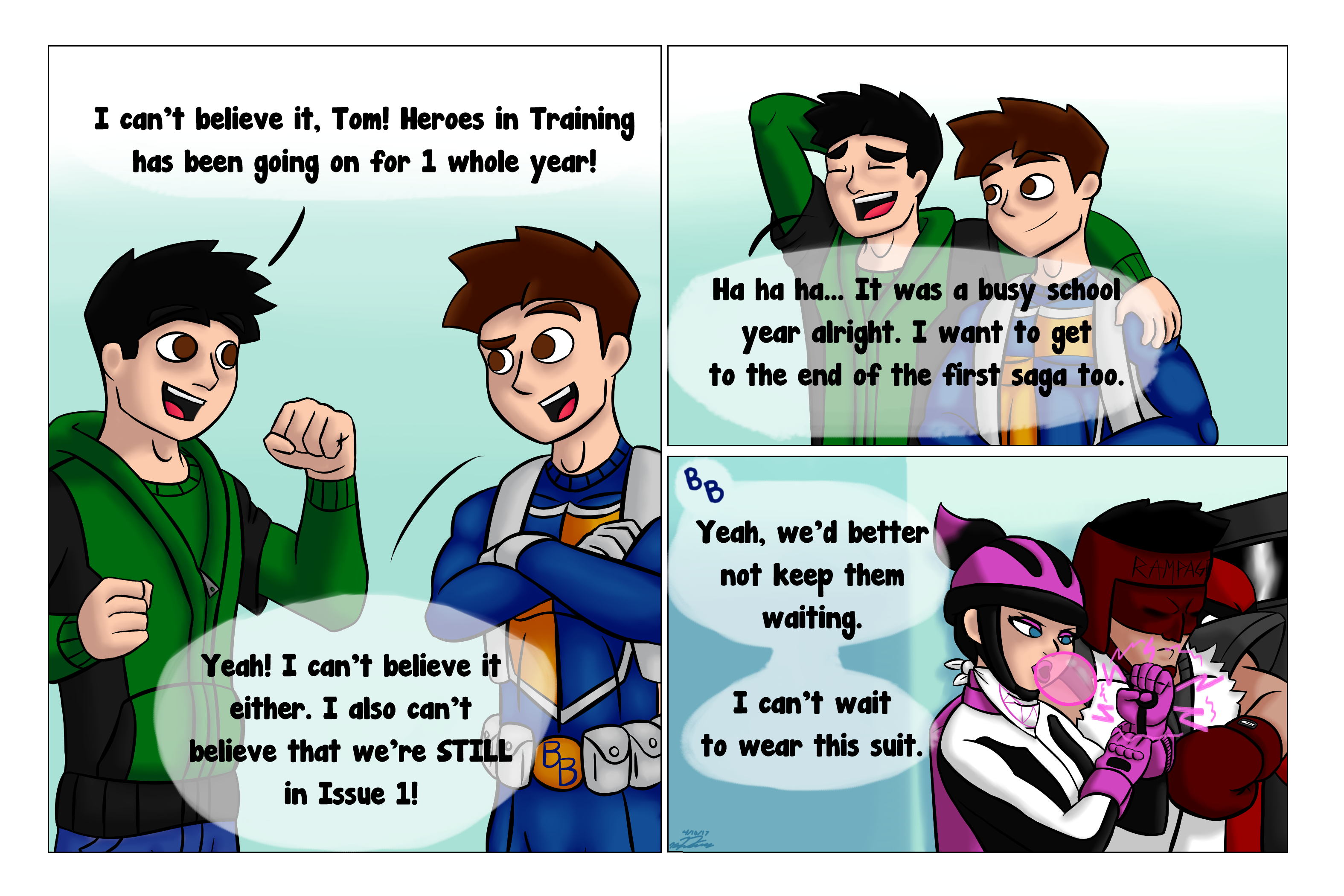 Heroes in Training - 1st Anniversary Page