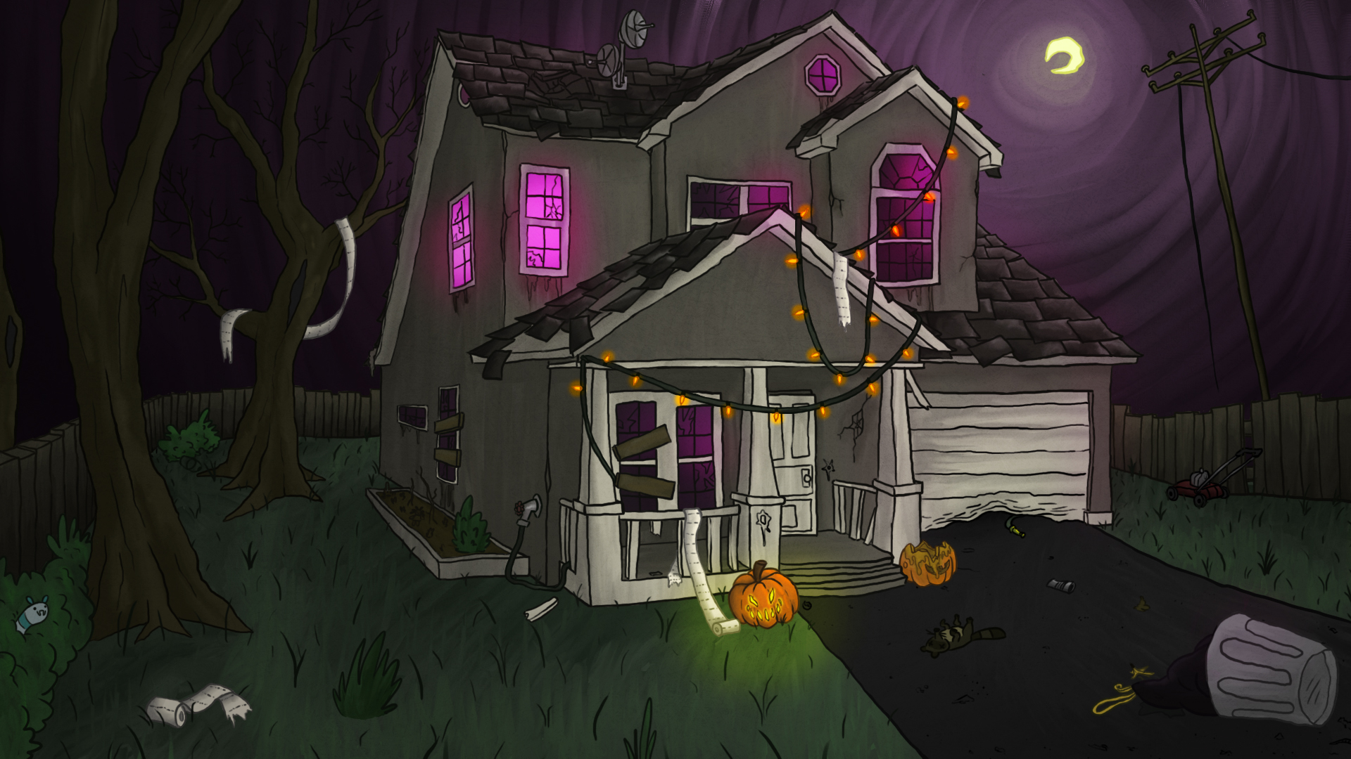 Dead Kidz Abandoned House Background Art By Critterfitz On