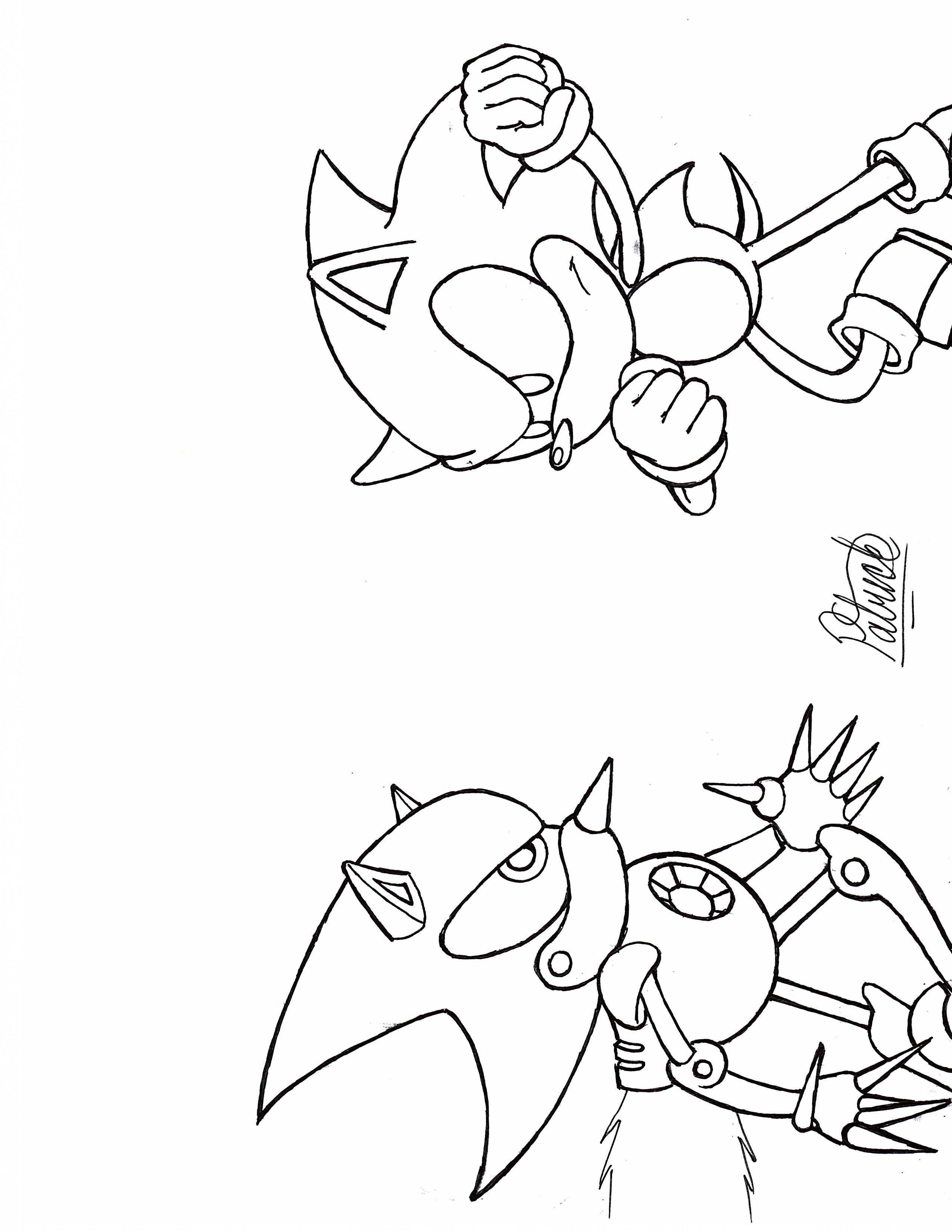 Sonic Cd Coloring Pages Sketch Coloring Page