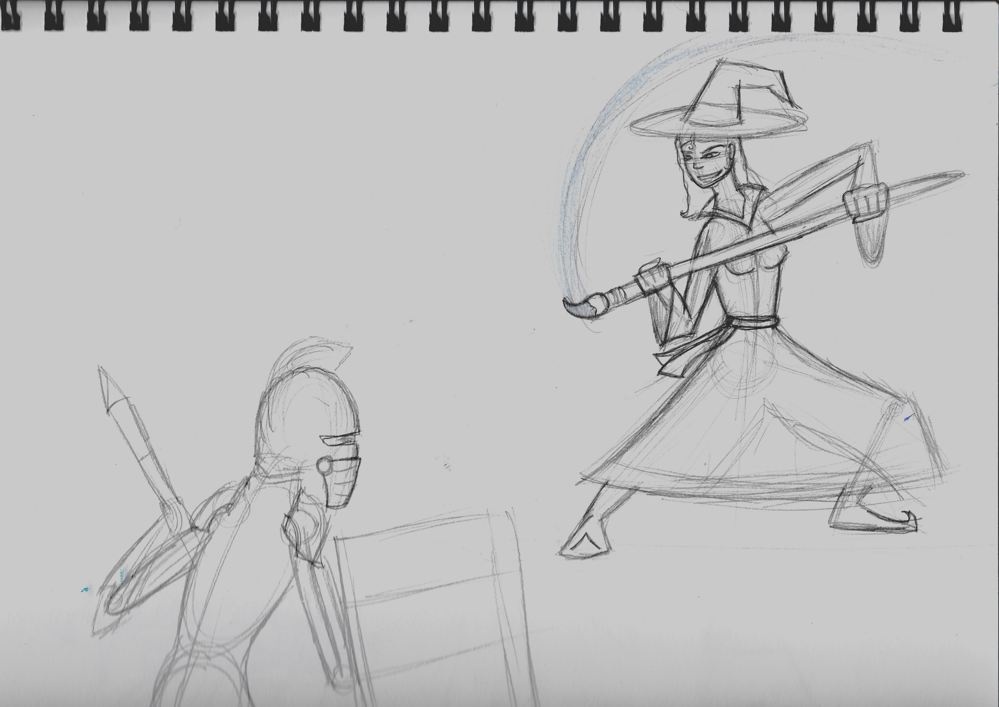 Tablet Knight VS Sketch Witch (WIP)