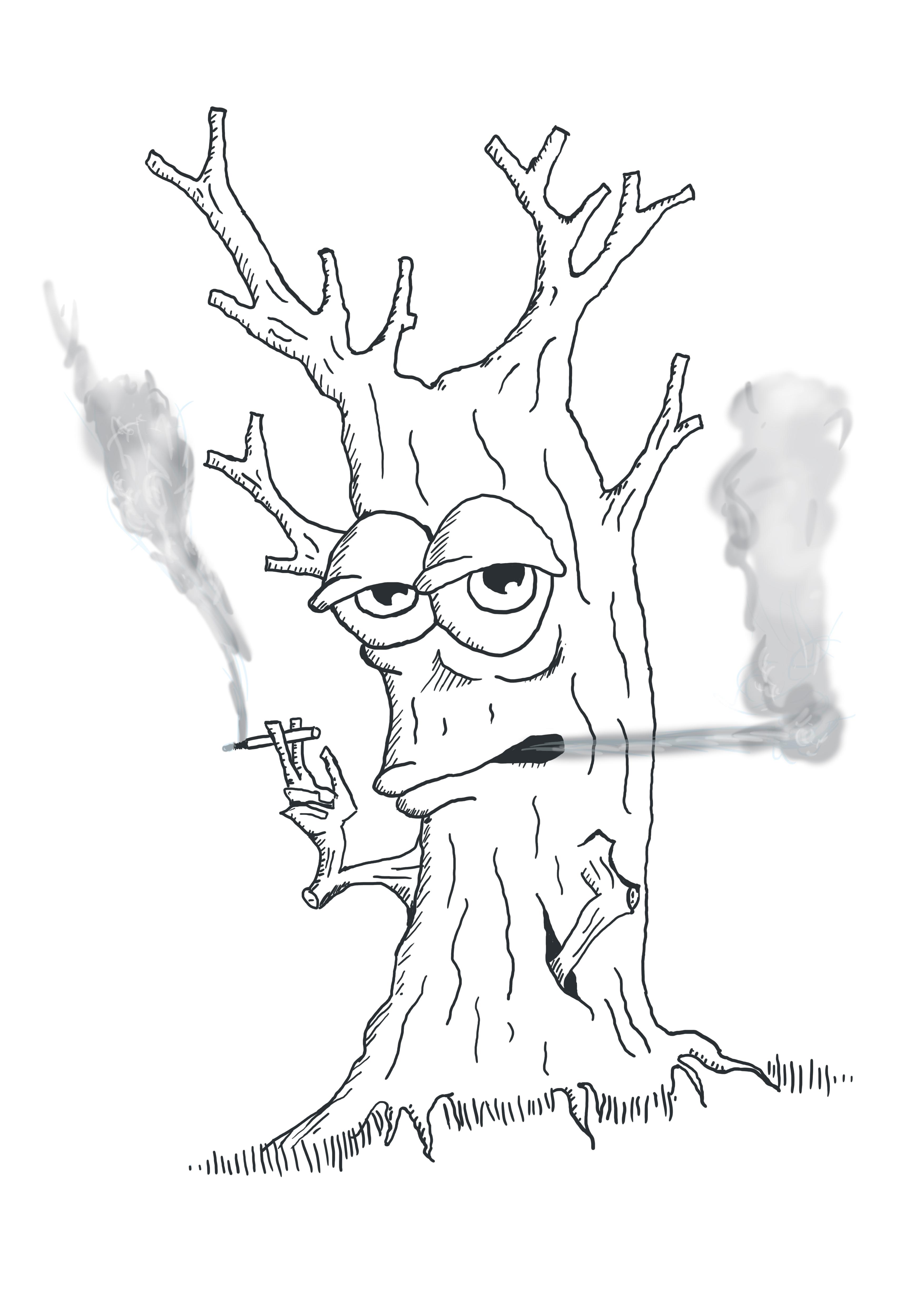 Smoking tree