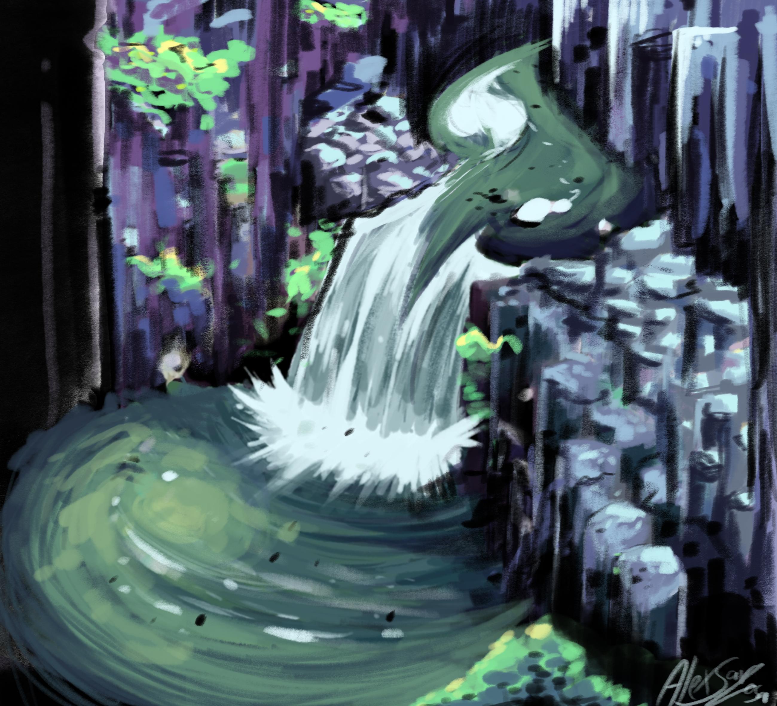 Waterfall photo study
