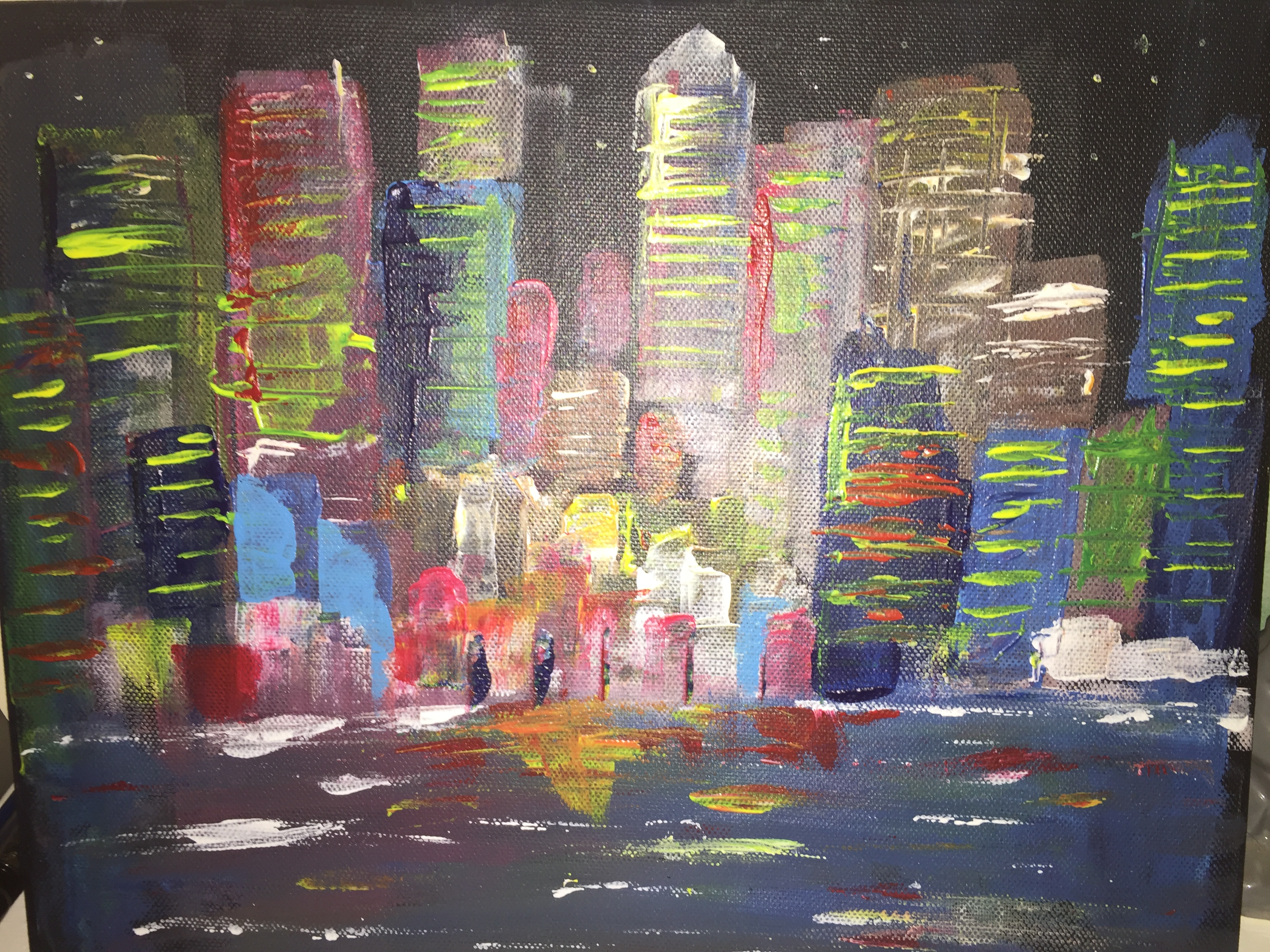 WIP - COTM Cityscape on canvas