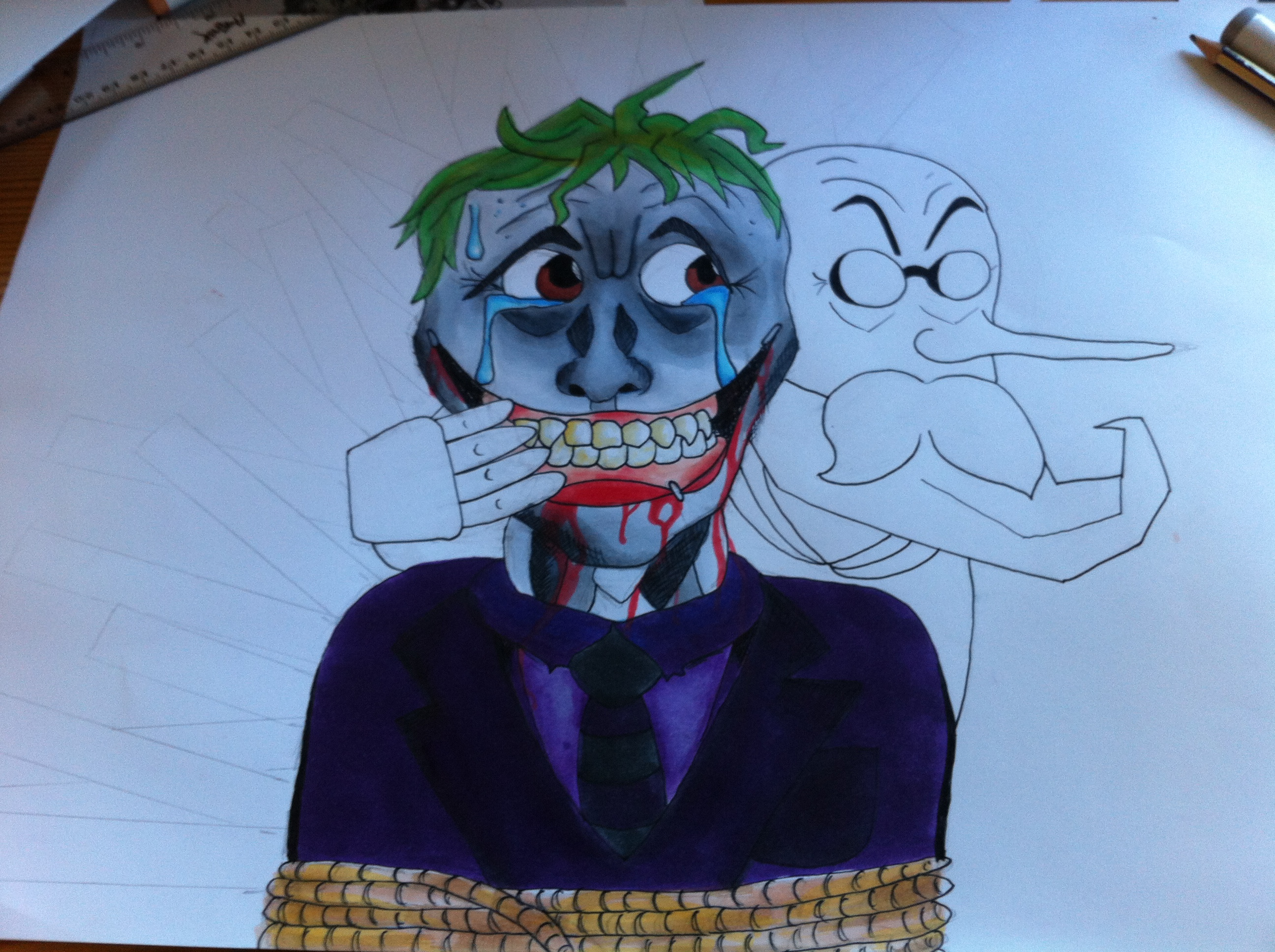 Character Design Draw With Jazza : Jokerfied draw with jazza cotm wip by nerdsatheart on