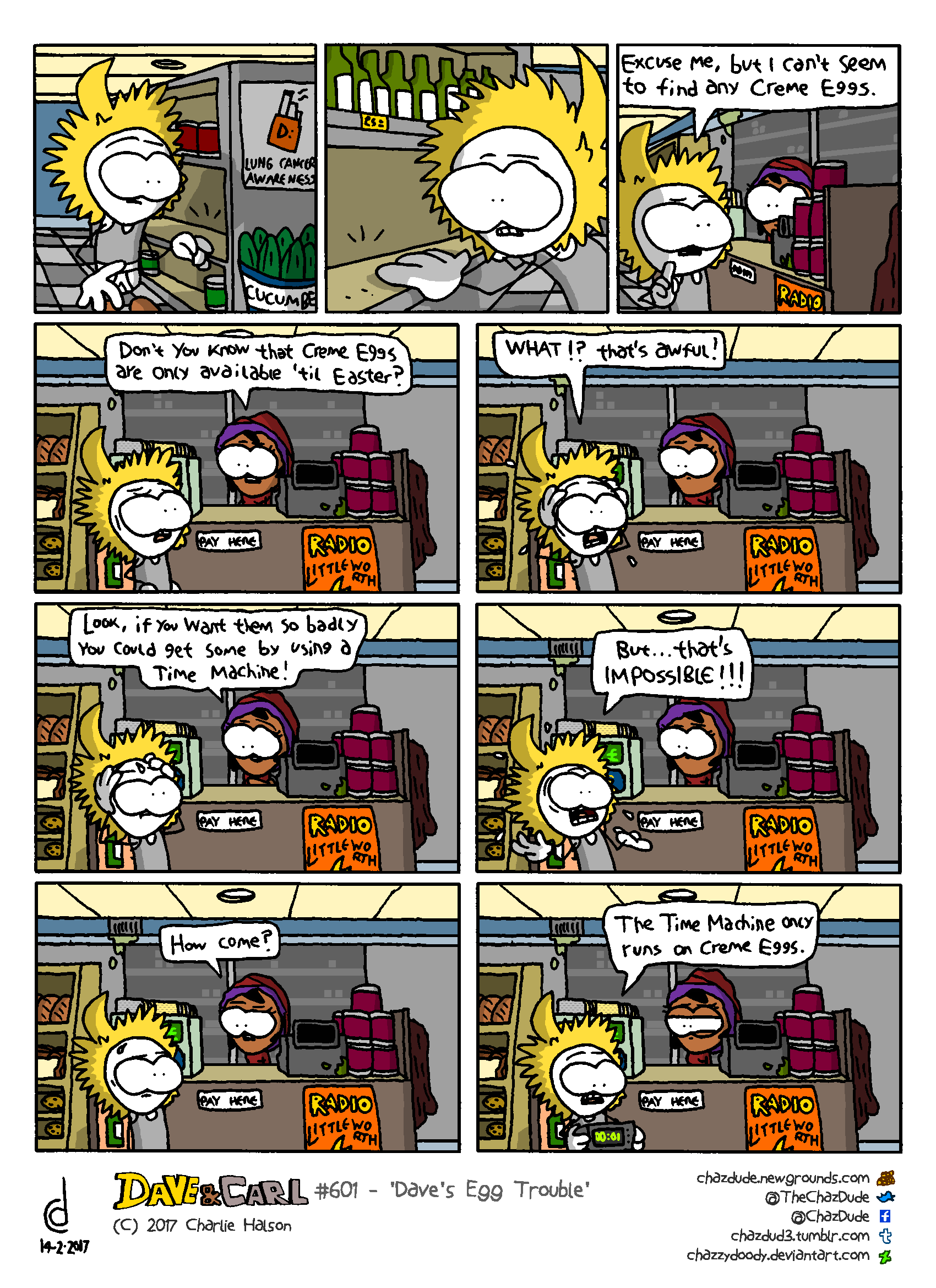 Dave's Egg Trouble