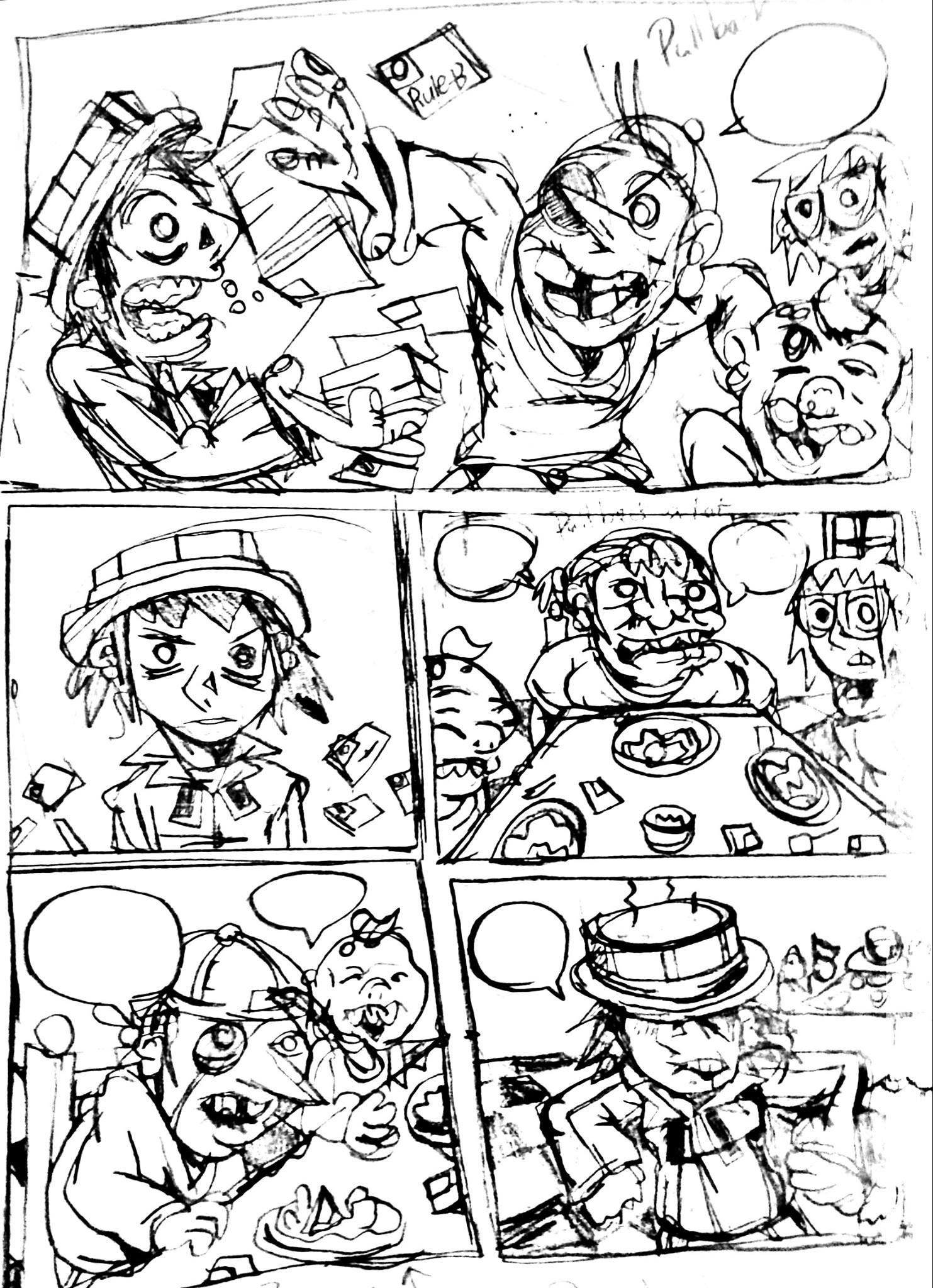 RULE-BREAKER comic random draft page 2