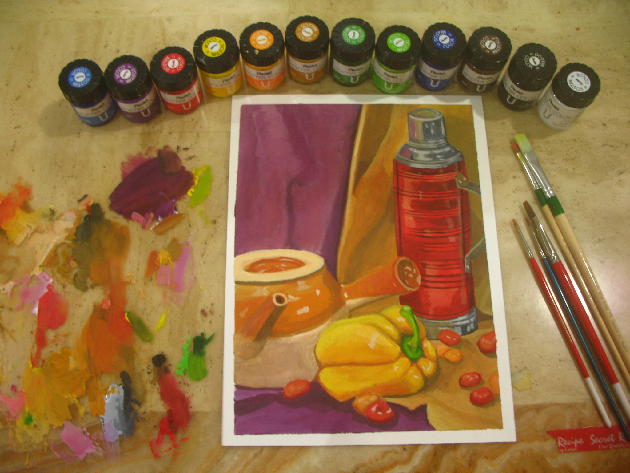 Still life drawing 2 (poster colour)