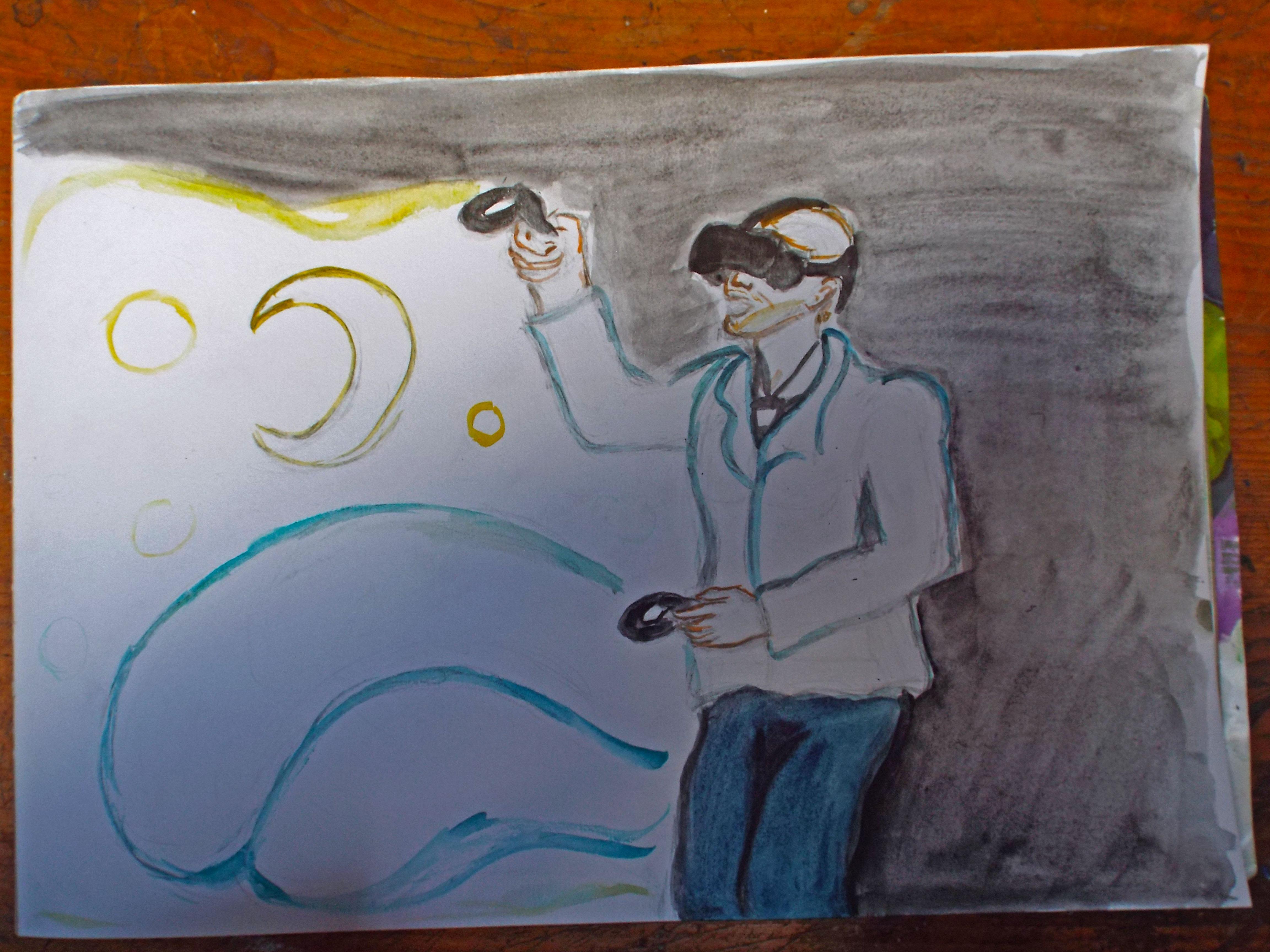 WIP of van gogh painting in vr
