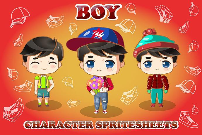 Free 2D Chibi Boy Character by CraftPix on Newgrounds
