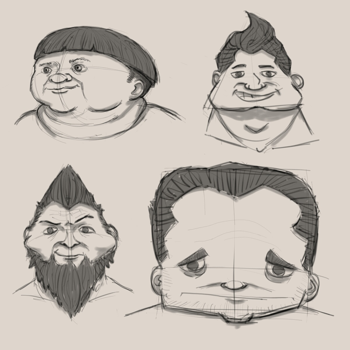 Basic Shapes Character Designs