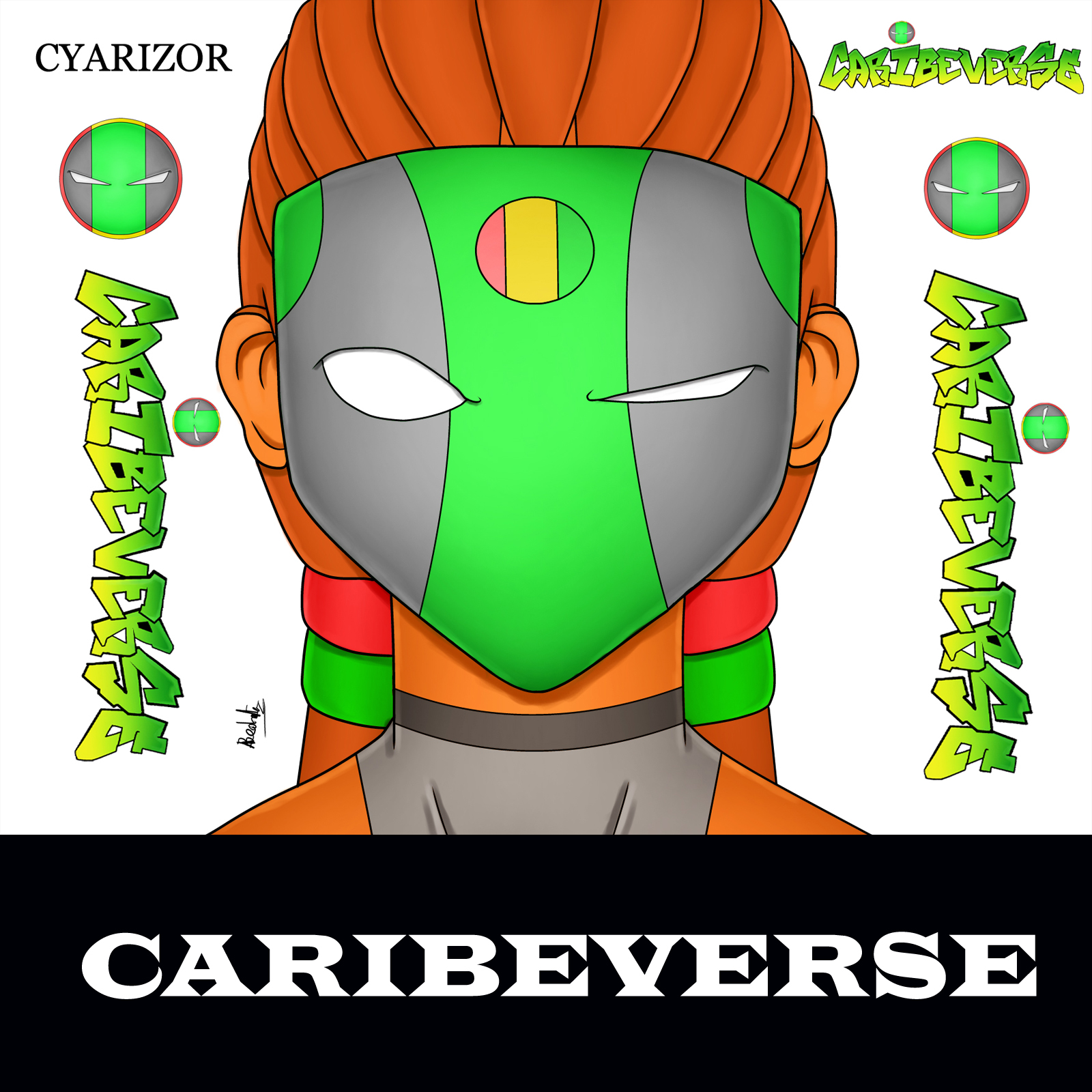 GUADELOUPE BD CARIBERSE HEAD STYLE