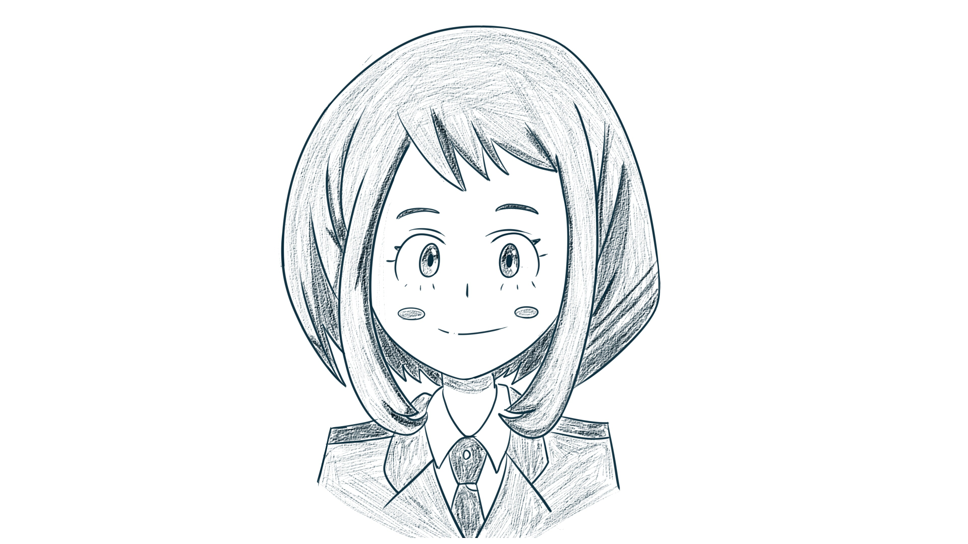 My hero academia- uraraka sketch