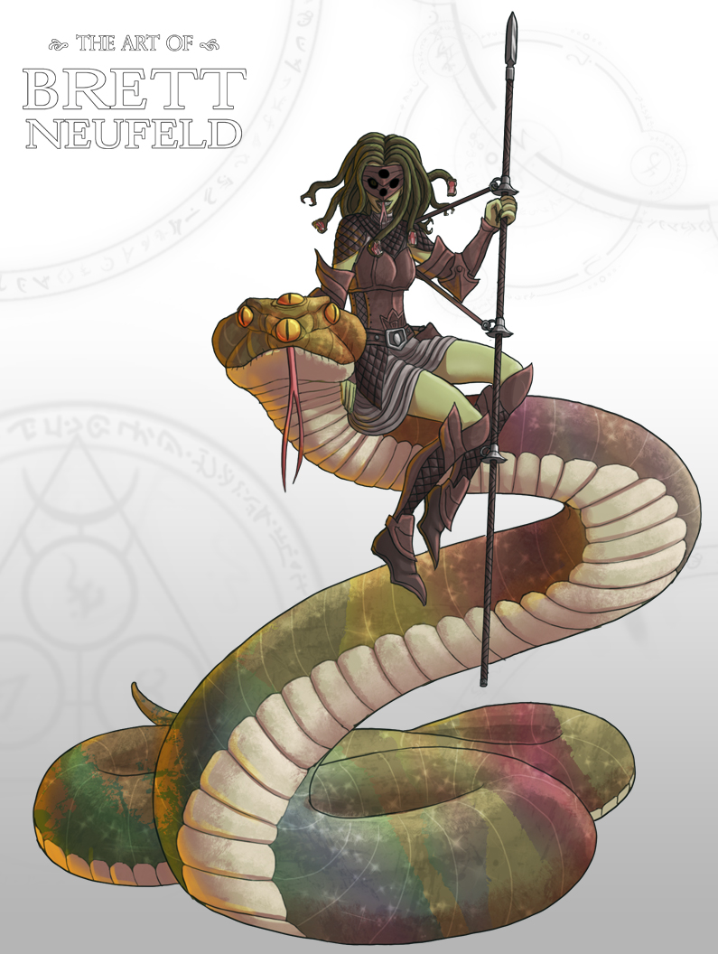 Snake Lady and Her Snake