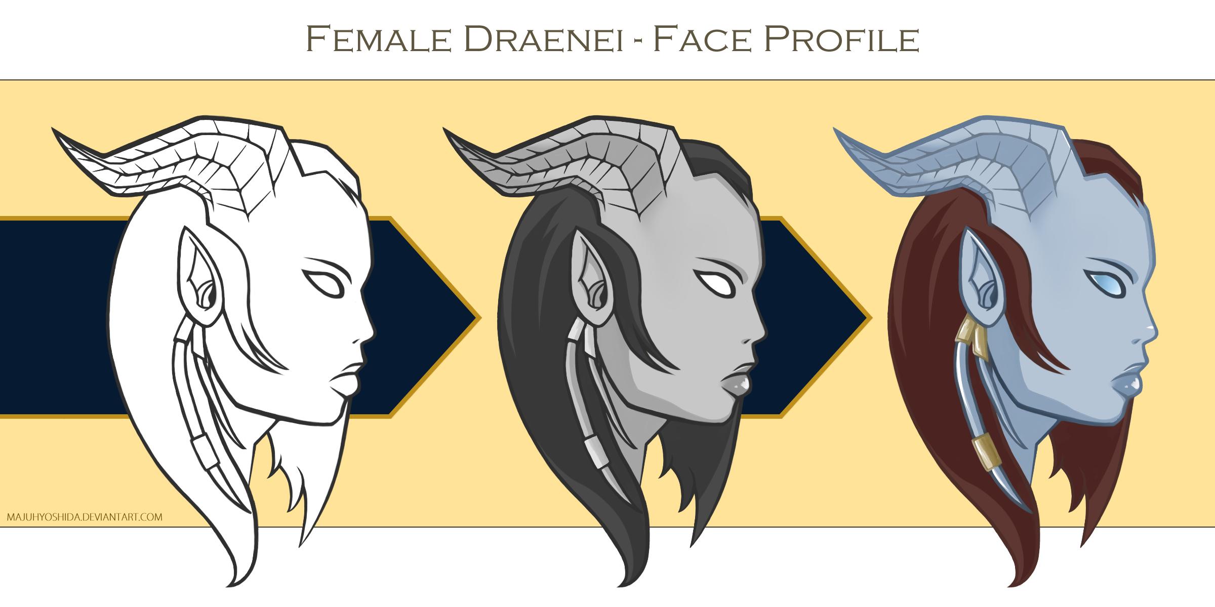 Female Draenei - Face Profile