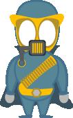 Flash pixel character