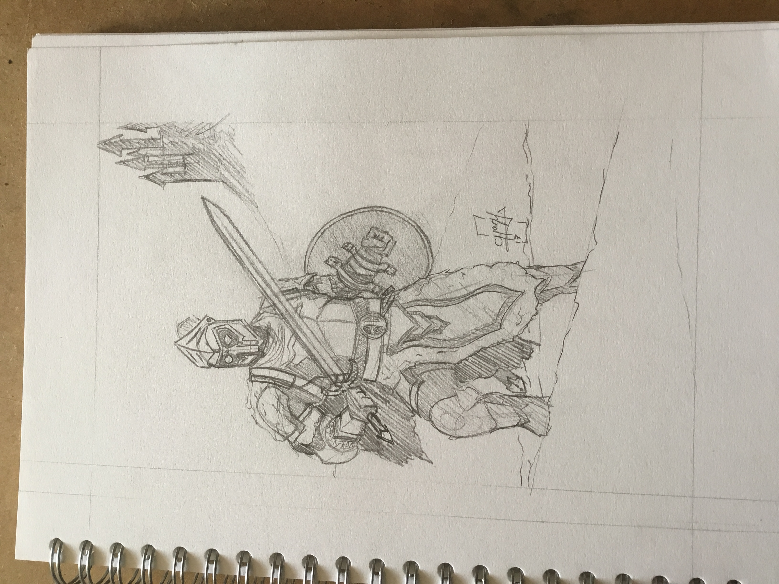 Deadpool Level Cap Sketch