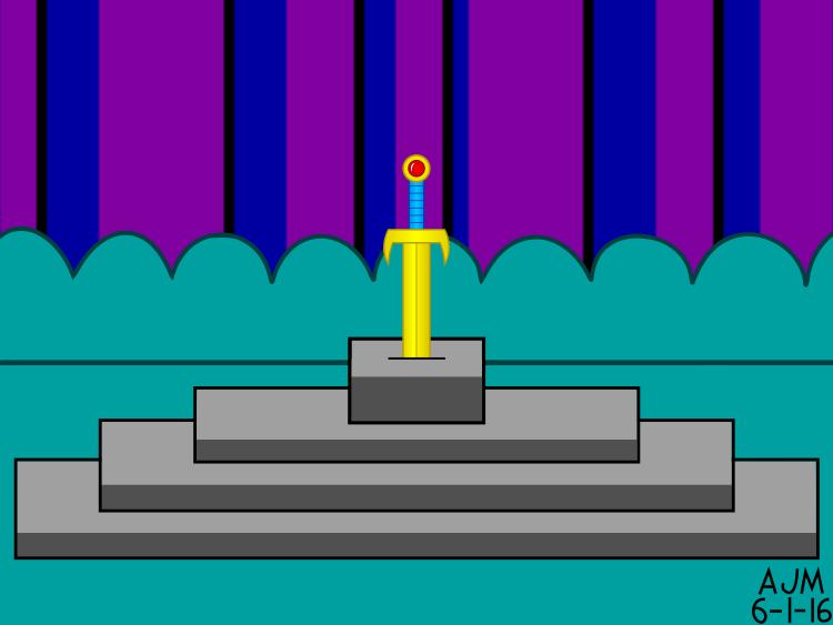Golden Sword in the Stone