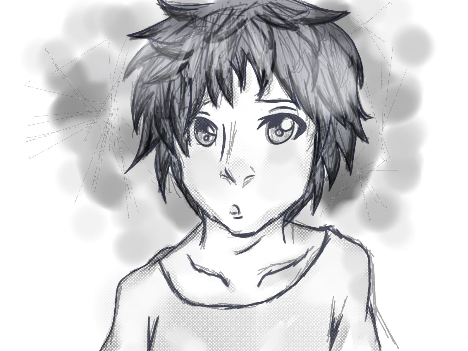 young manga boy