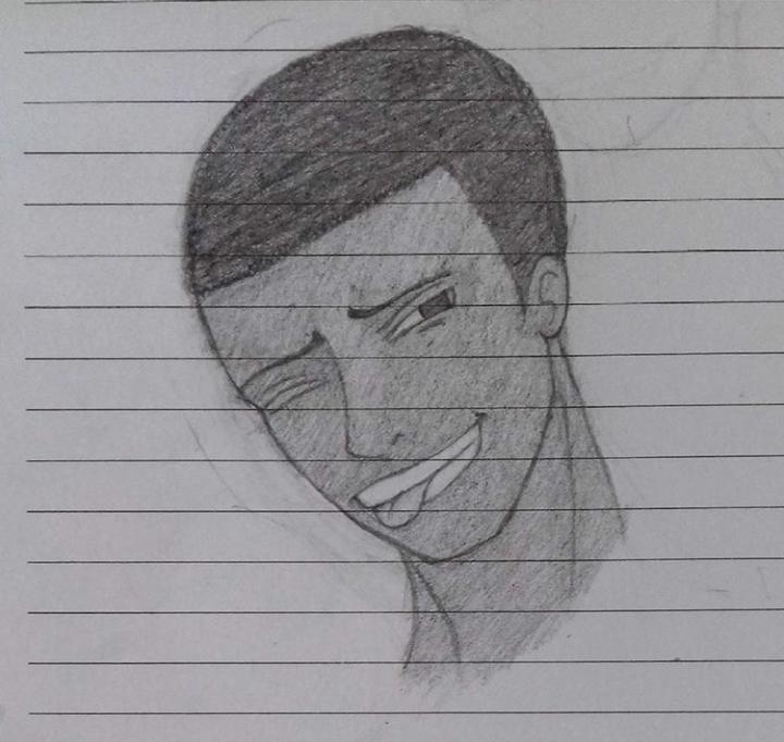 Nathan making a face