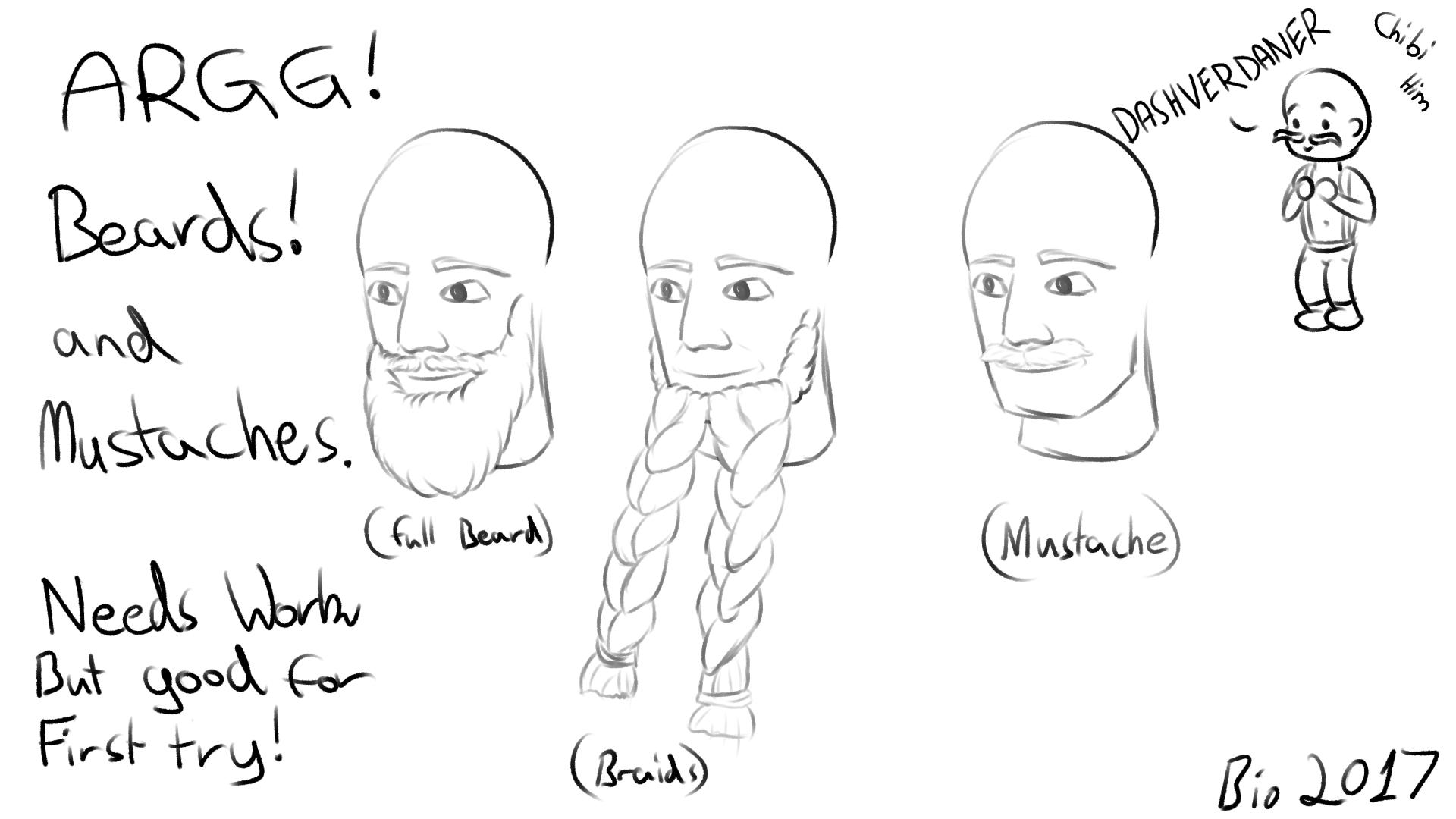 Beards and Chibi