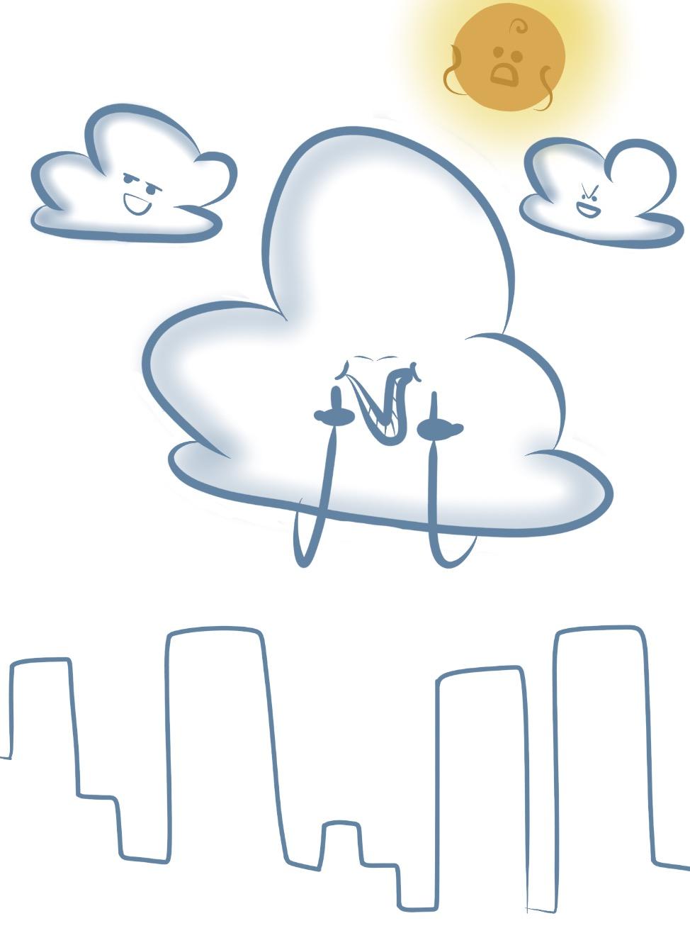 it's getting pretty cloudy