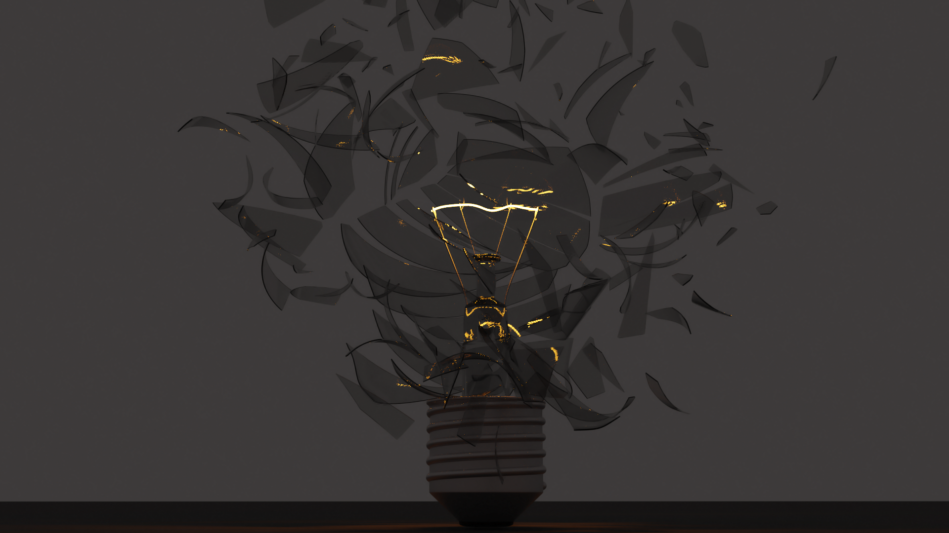 Lightbulb Cracked