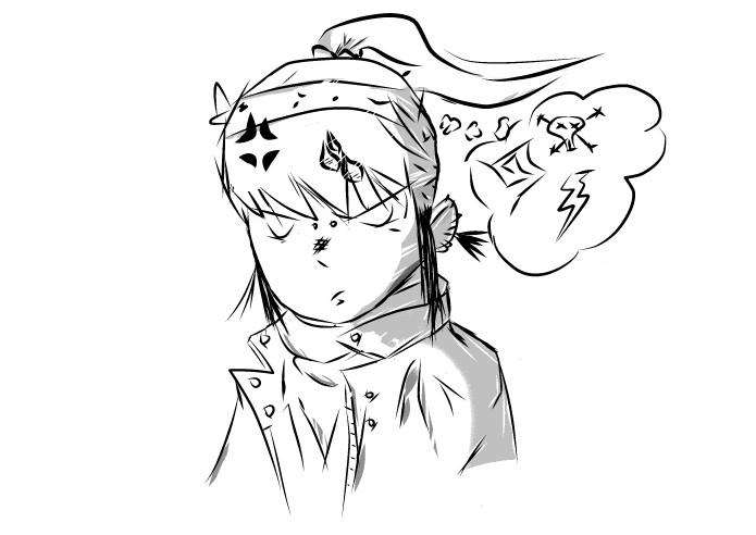 Upset Manga Girl