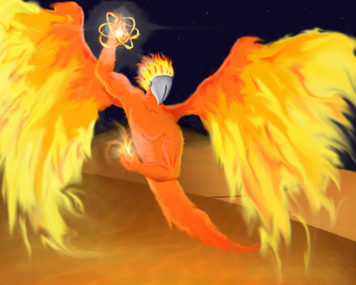 The Efreeti, jin of fire.