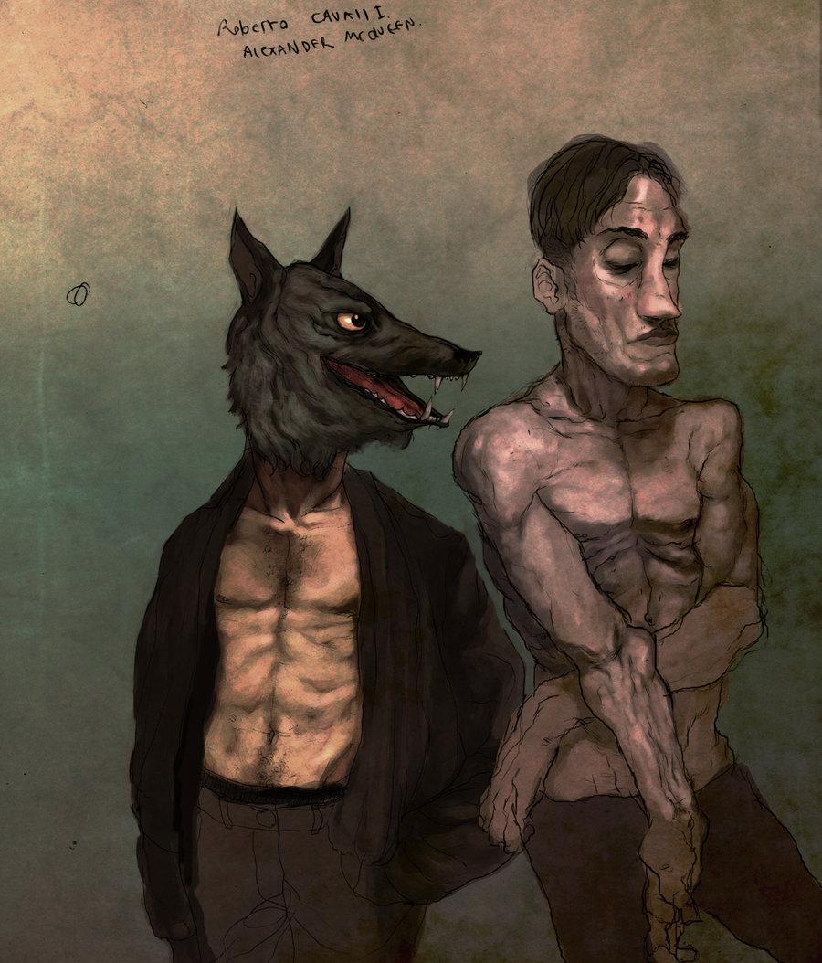 wolf man sketch