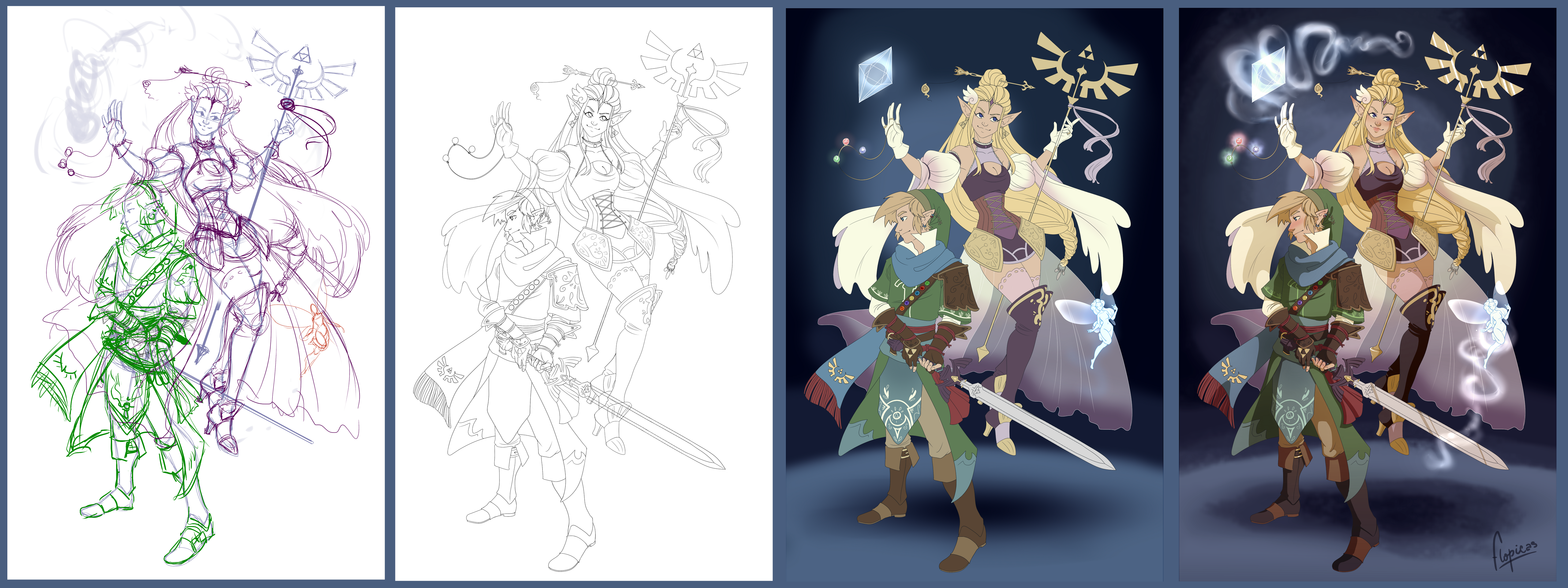Progress - The goddess and her knight