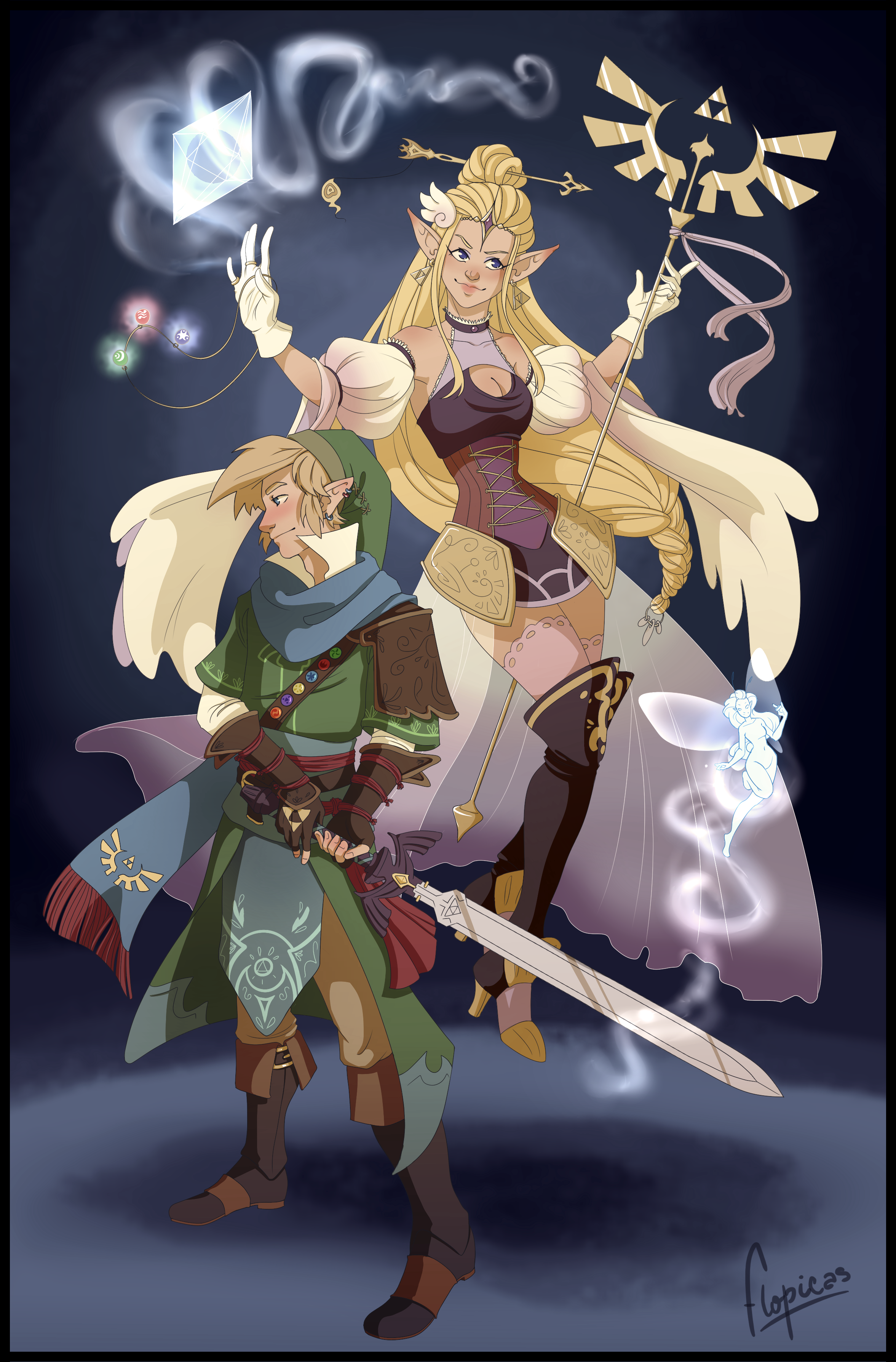 The goddess and her knight