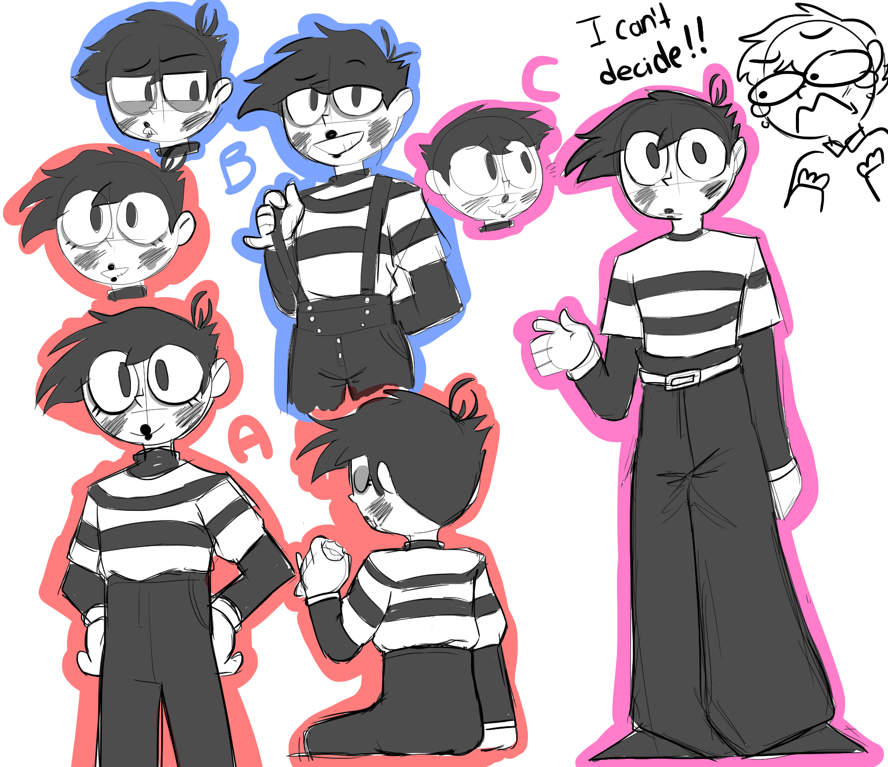 I can't choose a way to draw Wes (Doodles)
