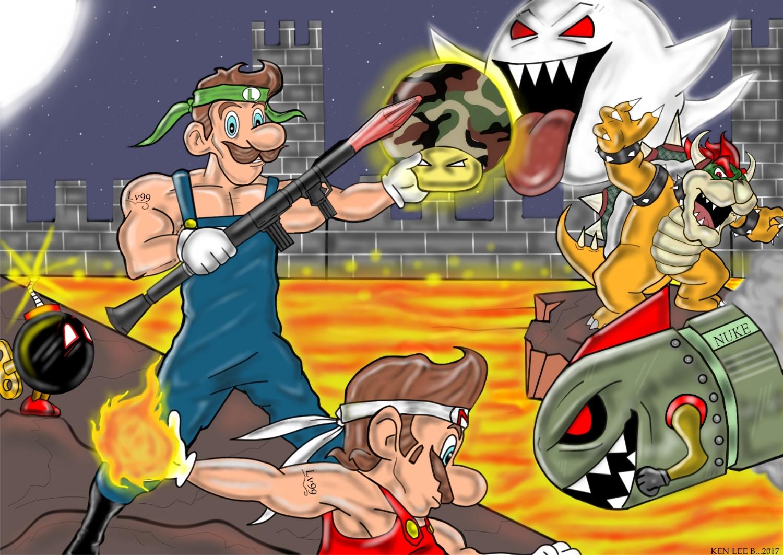 War time with Mario and luigi !!!! Jazza level cap
