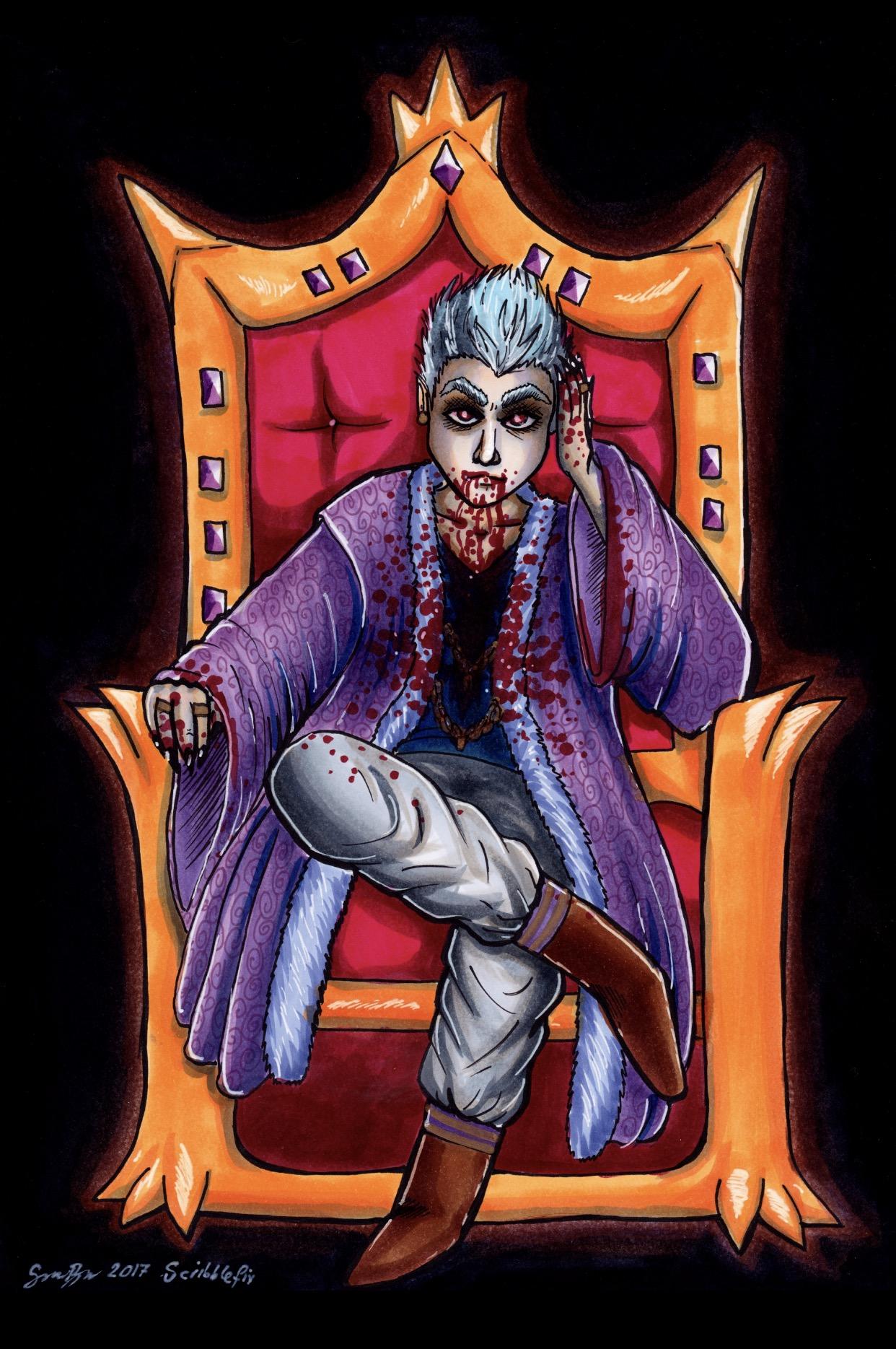 Vampire King Copic Marker Illustration