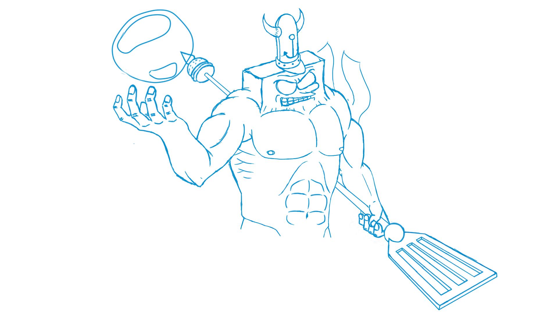 Spongebob Lvl 99 (Sketch)