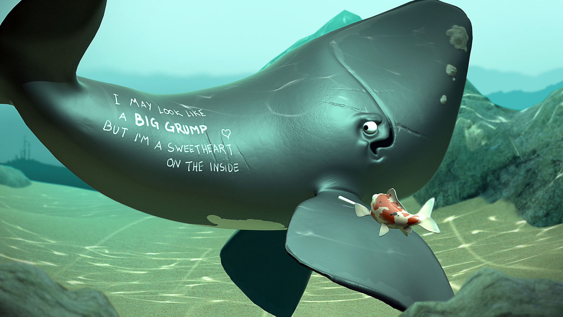 Whale & Koi