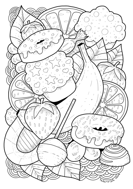 coloring page - sweets